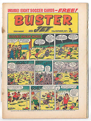 Buster 23 Oct 1971 (very high grade) Faceache, Galaxus, Fishboy, Clever Dick...