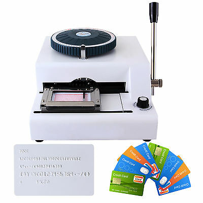 Letter Manual Embosser Stamping Machine 72 Character PVC Credit Card Embossing