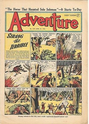 Adventure 1319 (Apr 29, 1950) very high grade - Strang by Dudley D Watkins