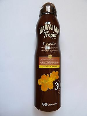 Hawaiian Tropic Continu Spray Sec Huile SPF 30 180ml