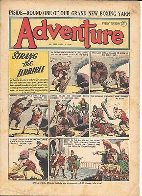 Adventure 1315 (Apr 8, 1950) mid to high grade - Strang by Dudley D Watkins