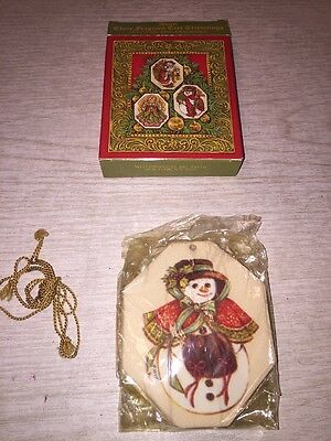 Vintage Nos Pkg Of 3 Avon Fragrant Tree Trimmings 2 Sided Ornaments