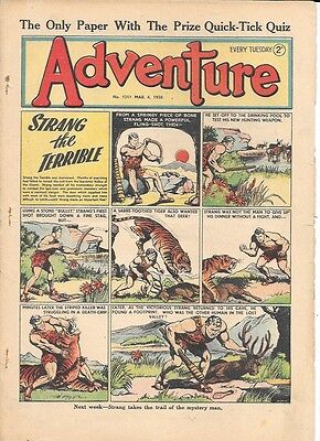 Adventure 1311 (March 4, 1950) high grade - Strang by Dudley D Watkins