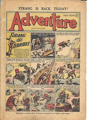 Adventure 1310 (Feb 25, 1950) fair grade - Strang by Dudley D Watkins