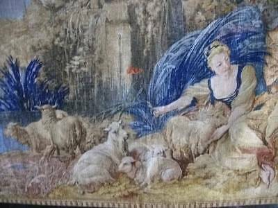 Superb Large French Chateau  Aubusson Style Tapestry Le Nid (The Nest )
