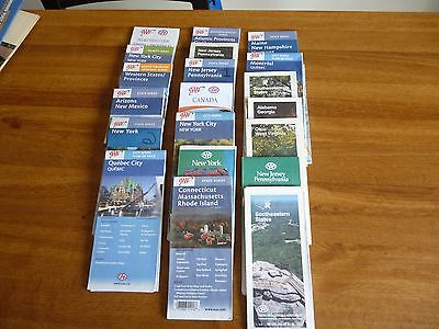 Lot of 20 Vintage AAA road maps -. See photos - USA and Canada