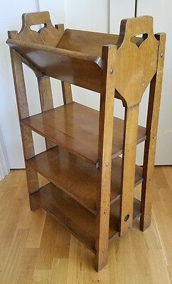 LAKESIDE CRAFT SHOPS OAK BOOKSHELF Arts & Crafts Stickley Era MISSION Antique