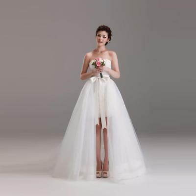 Ladies White Tulle Bridal Skirt Ladies Long Tulle Skirt With Satin Bow Front