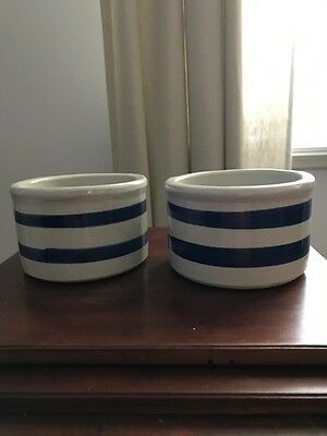 2 small RRP Roseville bowls