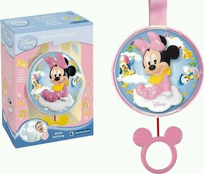 ☆☆☆ BNIB DISNEY BABY Sweet Dreams Musical Minnie. Lullaby Pull pram cot toy. ☆☆☆