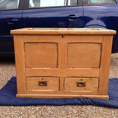 victorian pine mule chest