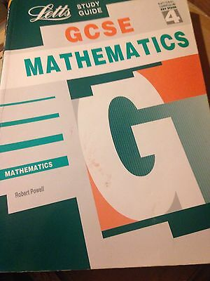 LETTS GCSE MATHEMATICS Maths STUDY & REVISION GUIDE BY ROBERT POWELL KS4 Book