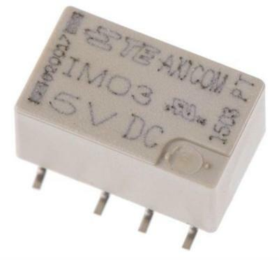 2 x TE Connectivity IM03GR DPDT PCB Mount Relay, 5V DC Coil, 2A @ 250VAC Sealed