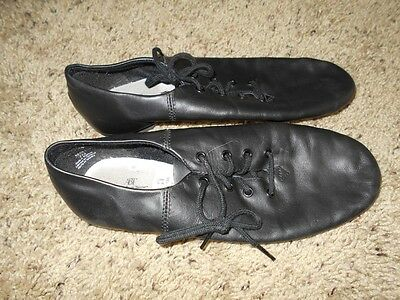 American Ballet Theatre Spotlights Black Lace Up Jazz Shoes Size 4.5