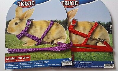 Trixie Rabbit Nylon Harness & Lead Set (Also Guinea Pigs, Adjustable Size)