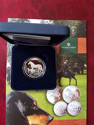 Lithuania Litauen 10 Euro Nature Coin 2017 Proof silver Hound and Žemaitukas