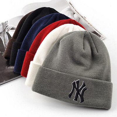 Fashion Men Women NY Winter Warm Beanie Skull Hat Hip-Hop Bboy Wool Knit Ski Cap