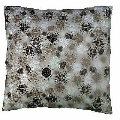 """Beige Brown Stone Swirls Print Contemporary Cotton Cushion Cover Size 16"""" x 16"""""""