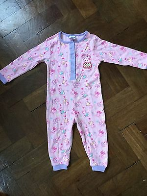 Peppa Pig All in One Pink Sleep Suit New Without Tags