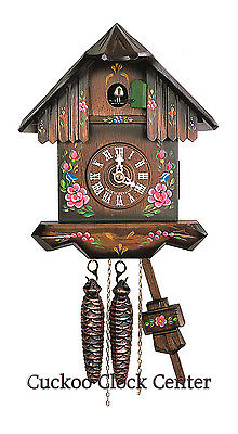 Cuckoo Clock 1-day-movement Chalet-Style 23cm Black Forest by Hubert Herr