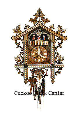 Cuckoo Clock Antique style 1-day-movement 49cm Black Forest by Hubert Herr