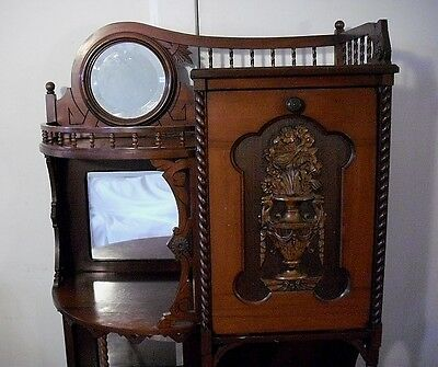 ANTIQUE AMERICAN 1870's AESTHETIC MOVEMENT CHERRY ETAGERE DISPLAY STAND