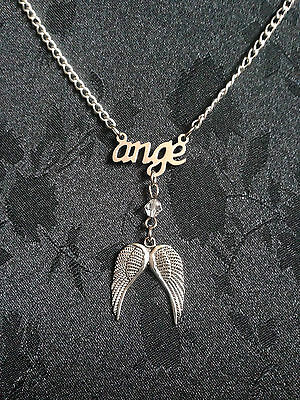 collier ange avec ailes - necklace ange with wings
