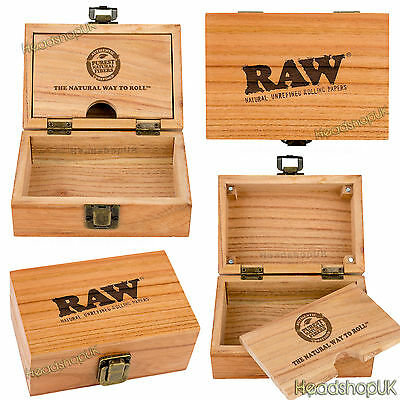 RAW Wooden Rolling Box Artisan Smokers Box Plus Accessories
