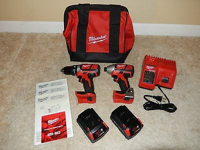 **NEW** Milwaukee M18 Cordless Compact Drill and Impact Driver Combo Kit