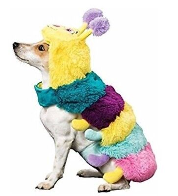 US Halloween Dog Costume Plush Caterpillar Fancy Dress Outfit Clothing Large
