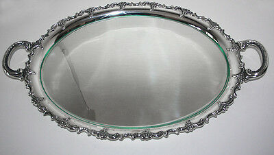 Vintage Sterling Silver Serving Platter 1596gr with Glass insert -ALT-HEIDELBERG