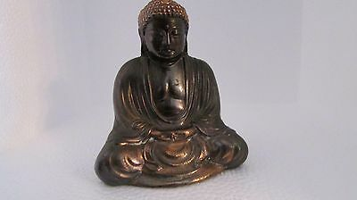 Antique Vintage Copper Japanese Buddhist Buddha Statue Amida Oriental markings