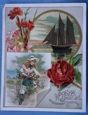 Toledo - Victorian Trade Card - the Woolson Spice Company - Coffee