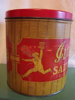 Antique Advertising Tin Ivins Saltine Cracker Tin Country Store Primitive Old