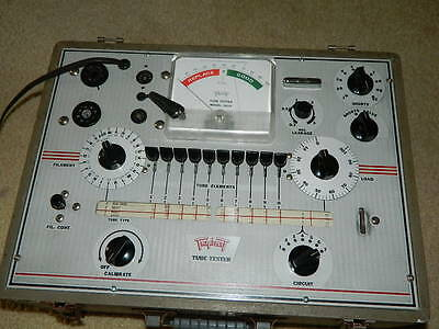 Triplett 3414 Tube Tester Excellent Clean Condition Working w Lots of Data