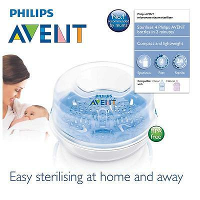 Philips Avent - Microwave Steam Steriliser - Sterilizes 4 Philips AVENT Bottles