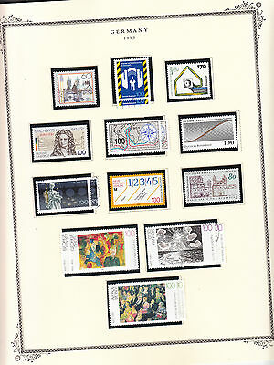 Germany - 1993 stamp collection on Scott pages - MNH/Used