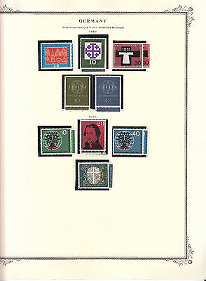 Germany - 1959/1962 stamp collection on Scott pages - MNH/MH/Used