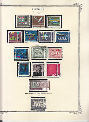 Germany - 1965/1969 stamp collection on Scott pages - MNH/MH/Used