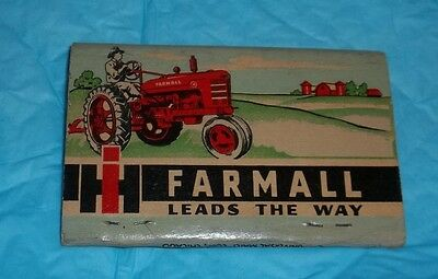 Unused Matchbook International Harvester Farmall Leads The Way Col Springs Col