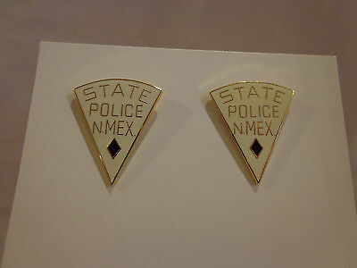 Vintage Lot of 2 New Mexico State Police Lapel Pin 1980s Enamel New Old Stock