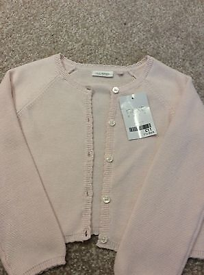 Next Baby Girl Baby Pink Cardigan 12-18 Months BNWT 100% cotton