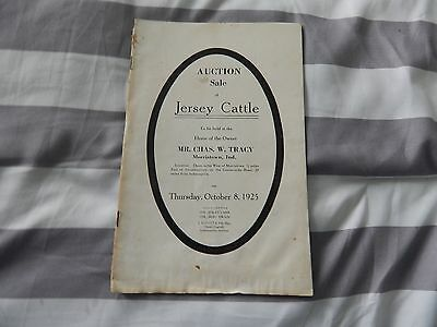 1925 Jersey Cattle Auction Catalog-Morristown Indiana-Mr. Charles Tracy, Owner