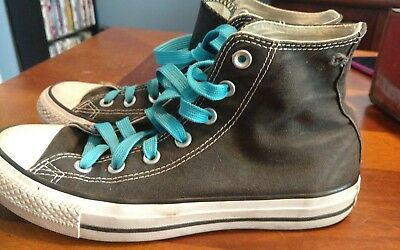 CONVERSE All Star Shoes Black High Tops Size Men's 6 Women's 8