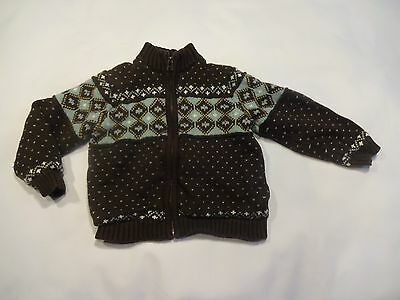 Janie and Jack Zip Up Cardigan Sweater, size 3T, Brown