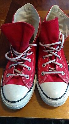 CONVERSE All Star Shoes REDHigh Tops Size Men's 6 Women's 8