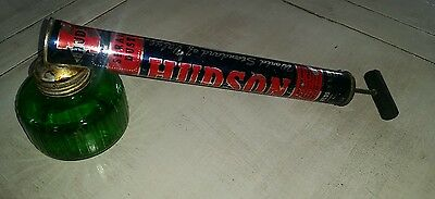 Vintage Hudson Insect Sprayer With Green Glass Insects Gardening Advertising