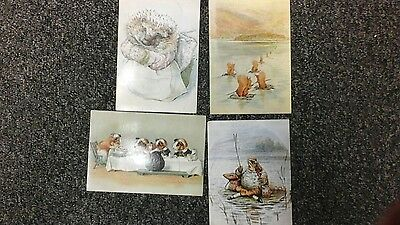 4 UNUSED postcards of ANIMALS by BEATRIX POTTER