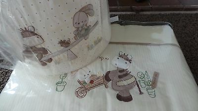 New Mamas and Papas Zeddy & Parsnip Lampshade and cot bumper