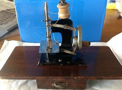 Small Antique Toy German Sewing Machine